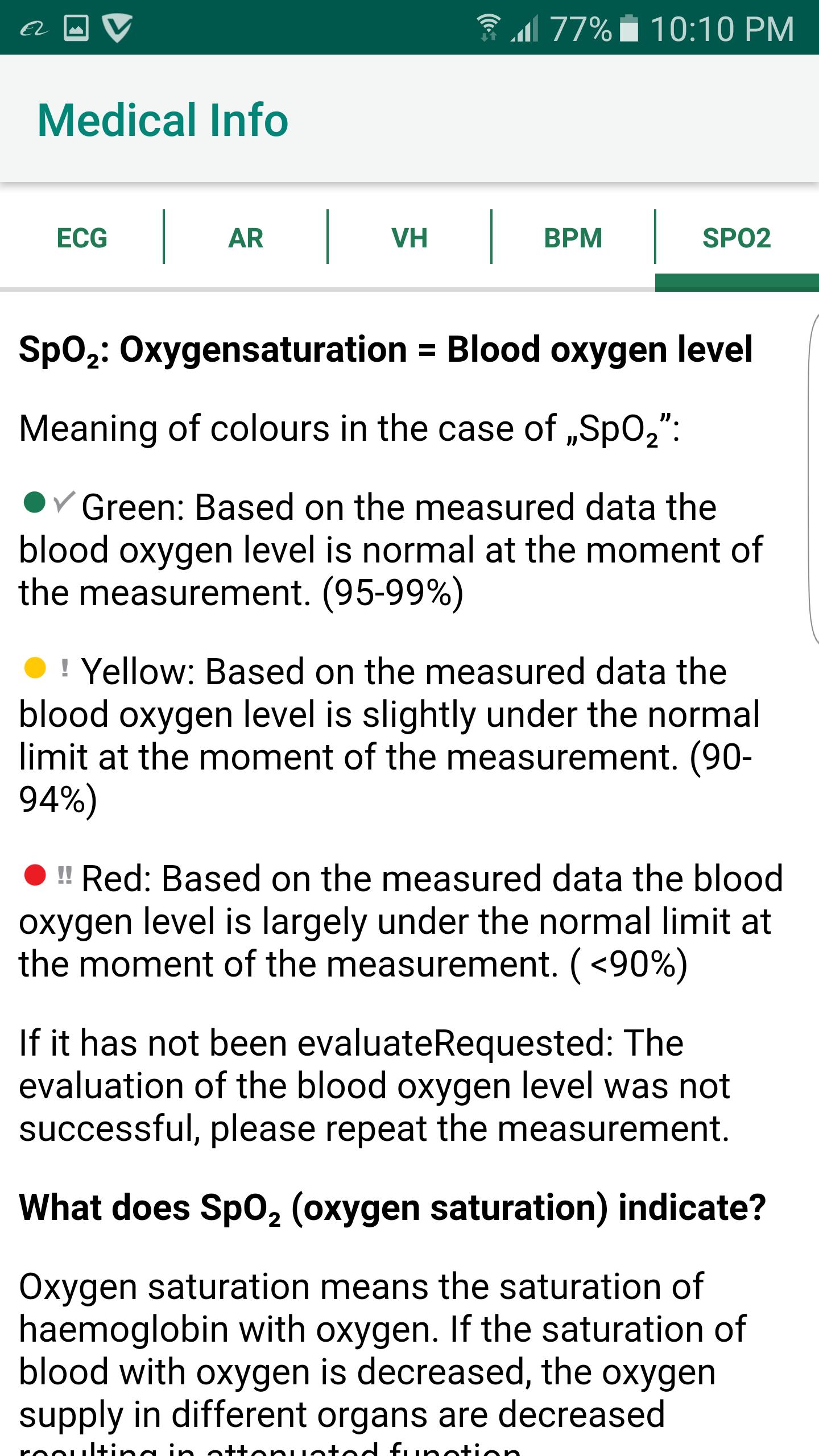 SpO2 Info